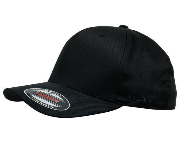 6277 Flexfit Perma Curve Jumbo Black/Black
