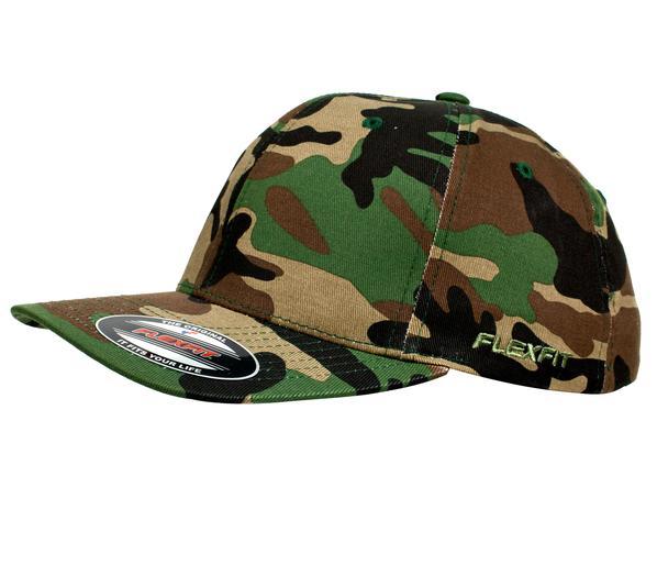 Flexfit 6277 Perma Curve Cap Green Camo
