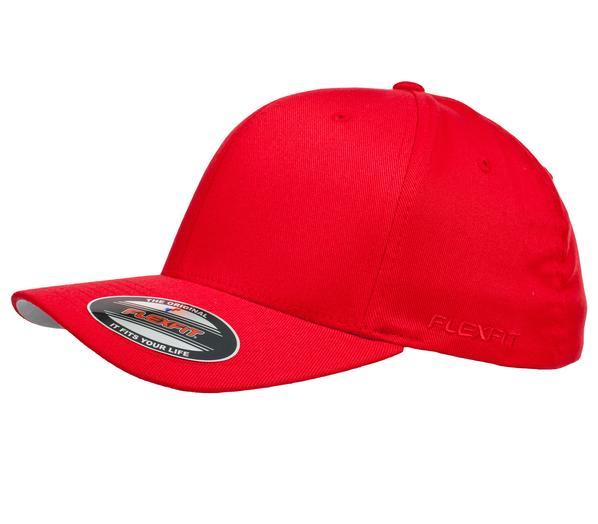 Flexfit 6277 Perma Curve Cap Red