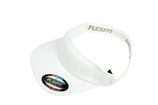8777 Flexfit Visor - White