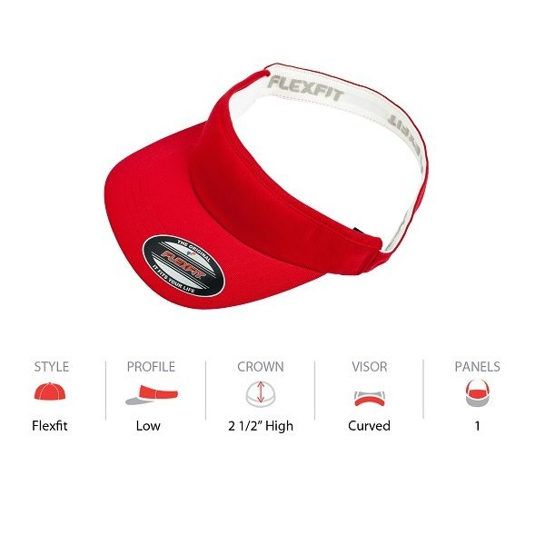 8777 Flexfit Visor - Red