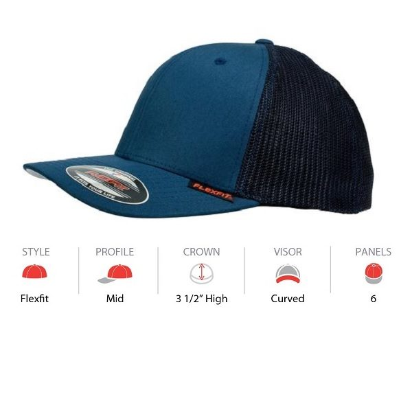 6511 Flexfit Mesh Trucker Navy