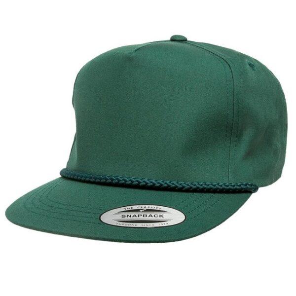 Yupoong Poplin Golf Snapback Cap
